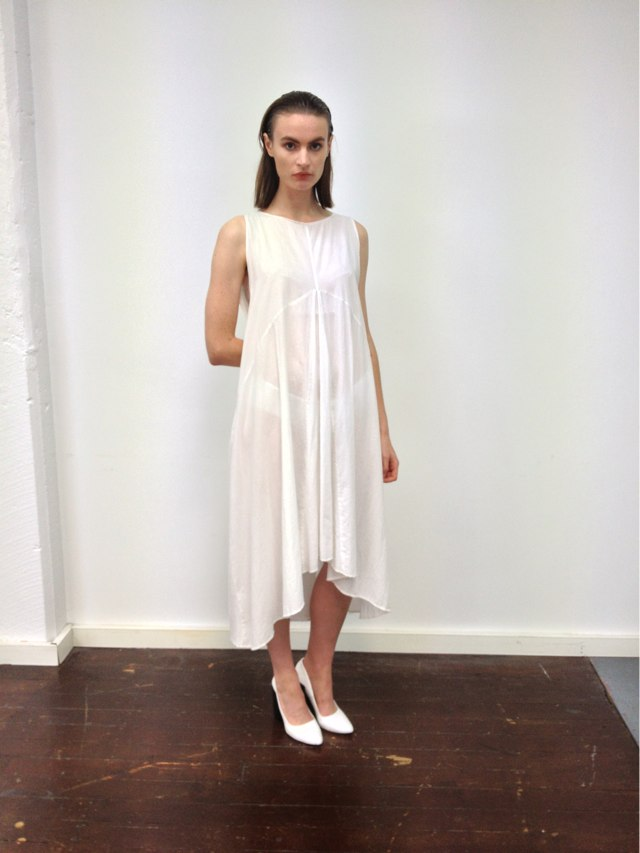 Shadow Dress in white voile