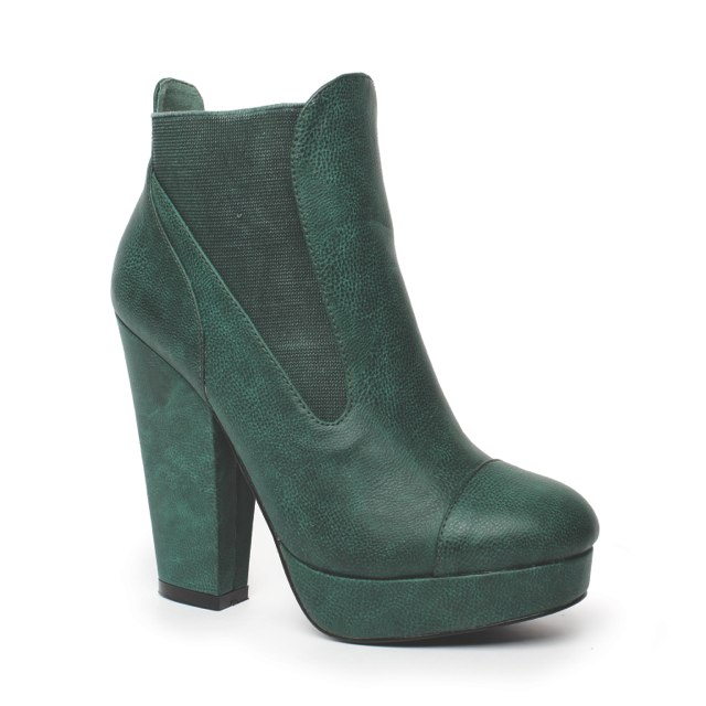 Madisyn Boot forest green $69-99, February 2013