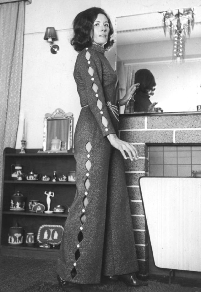 Christchurch designer Zora Price in the 70's in her creations...